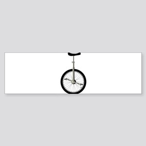Unicycle On White Bumper Sticker