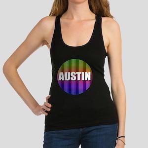 Austin Rainbow Racerback Tank Top