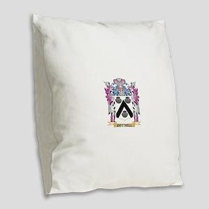 Cottrell Coat of Arms (Family Burlap Throw Pillow