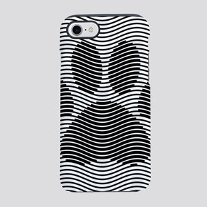 Dog Paw Print On Black And W iPhone 8/7 Tough Case