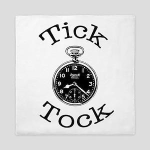 Tick Tock Time Queen Duvet