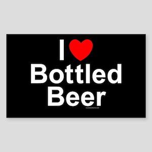 Bottled Beer Sticker (Rectangle)