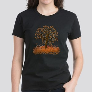 Autumn Leaves Women's Dark T-Shirt