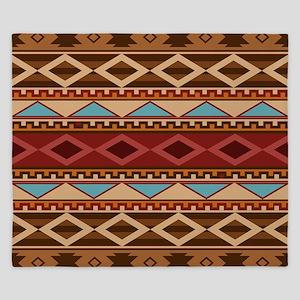 Navajo Native American Pattern King Duvet