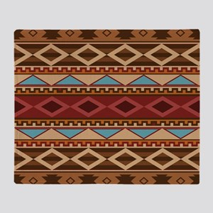 Navajo Native American Pattern Throw Blanket