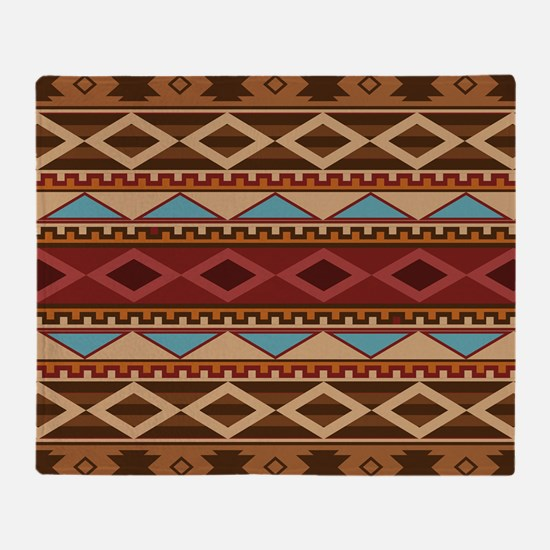 Navajo Native American Pattern Throw Blanket