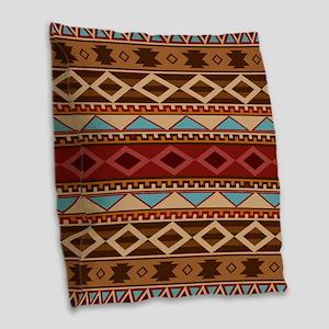 Navajo Native American Pattern Burlap Throw Pillow
