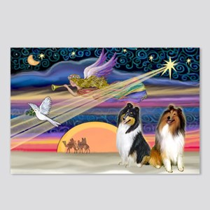 XmasStar/2 Collies Postcards (Package of 8)