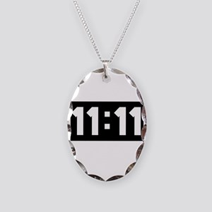 11:11 Necklace Oval Charm