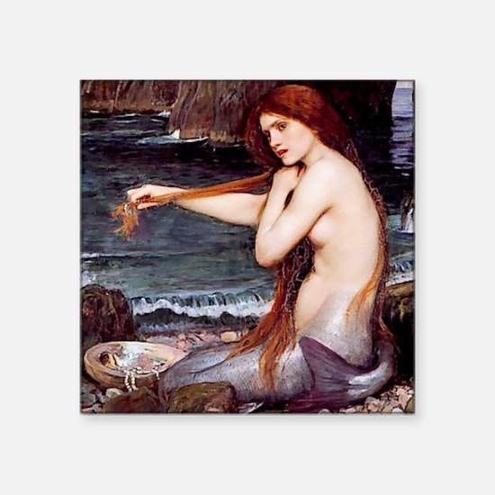 Mermaid Combing Her Hair Sticker