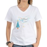 New Modern Retro Holidays Women's V-Neck T-Shirt