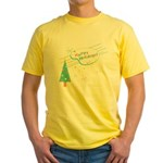 New Modern Retro Holidays Yellow T-Shirt