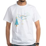 New Modern Retro Holidays White T-Shirt