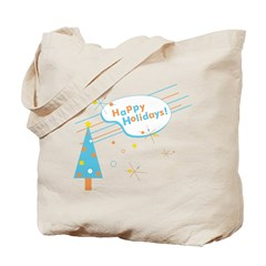 New Modern Retro Holidays Tote Bag