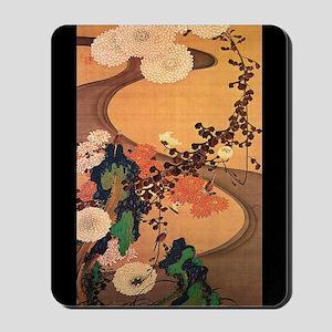Vintage Japanese Chrysanthemum flowers painting Mo