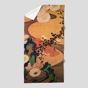 Vintage Japanese Chrysanthemum flowers painting Be