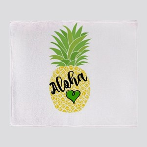 Aloha Pineapple Design Throw Blanket