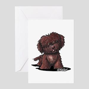 Shih Tzu Chocolate Greeting Card