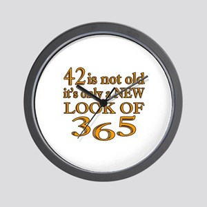 42 Is New Look Of 365 Wall Clock