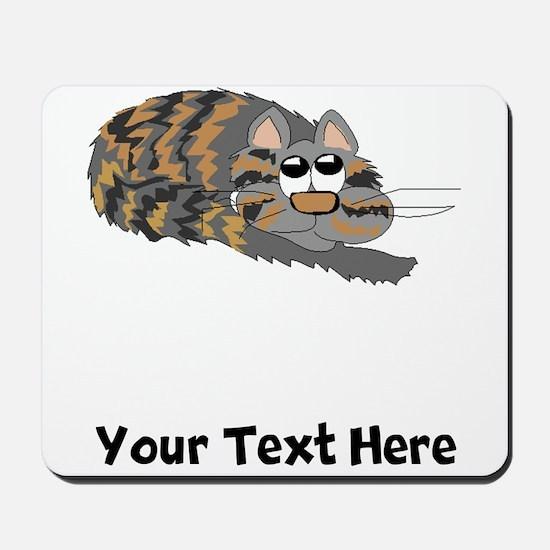 Cat Curled Up (Custom) Mousepad