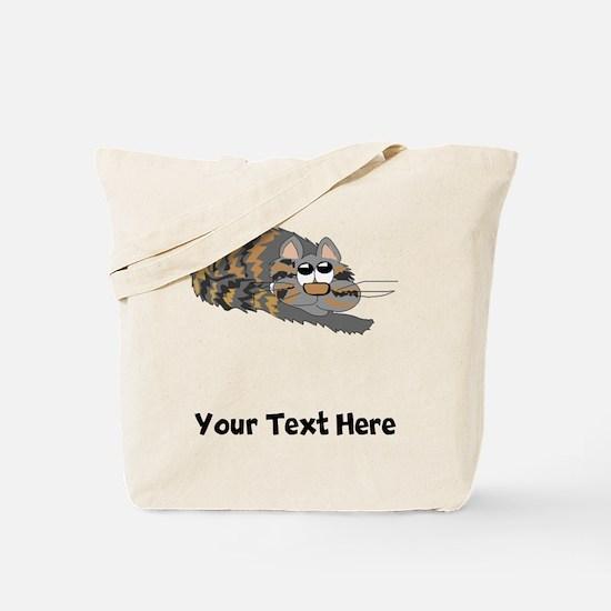 Cat Curled Up (Custom) Tote Bag