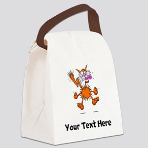 Crazy Cat (Custom) Canvas Lunch Bag
