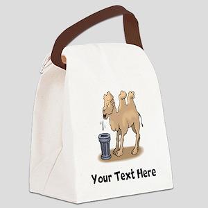 Camel Spitting (Custom) Canvas Lunch Bag