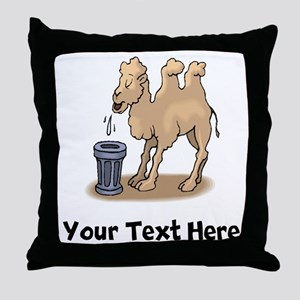 Camel Spitting (Custom) Throw Pillow