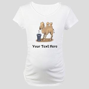 Camel Spitting (Custom) Maternity T-Shirt