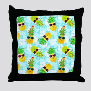 Christmas Pineapples Throw Pillow
