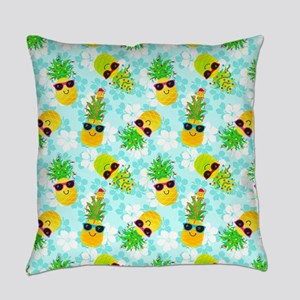 Christmas Pineapples Everyday Pillow