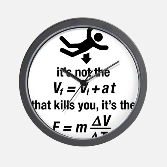 Cute Physics Wall Clock