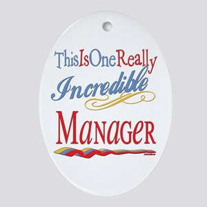 Incredible Manager Oval Ornament