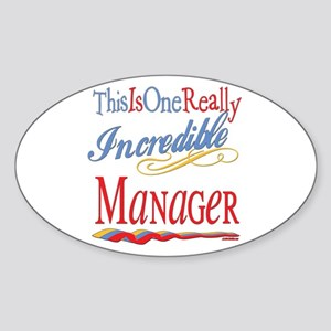 Incredible Manager Oval Sticker