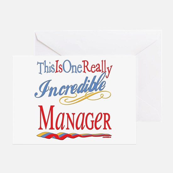 Incredible Manager Greeting Card