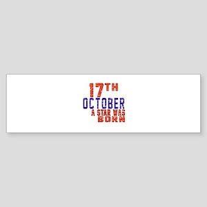 17 October A Star Was Born Sticker (Bumper)