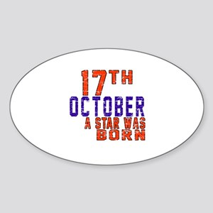 17 October A Star Was Born Sticker (Oval)
