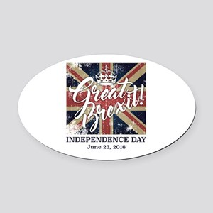 Great Brexit Oval Car Magnet