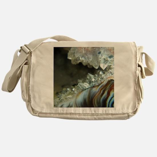 Ocho Agate Geode Messenger Bag