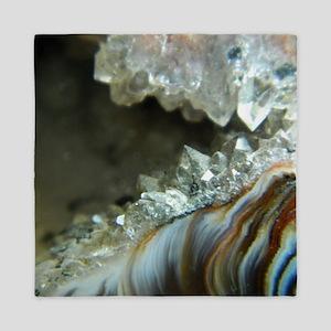 Ocho Agate Geode Queen Duvet