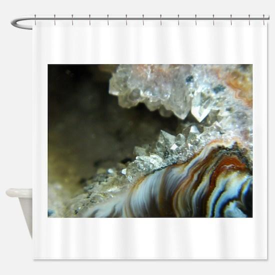 Ocho Agate Geode Shower Curtain