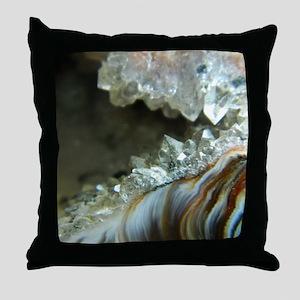 Ocho Agate Geode Throw Pillow