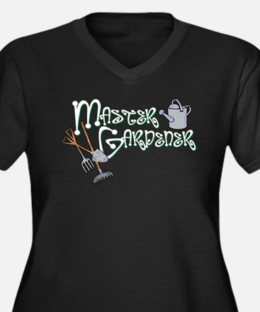 Master Gardener Women's Plus Size V-Neck Dark T-Sh