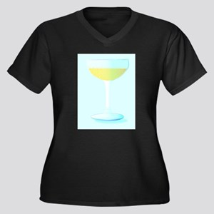 A Glass of Bubbly Background Plus Size T-Shirt