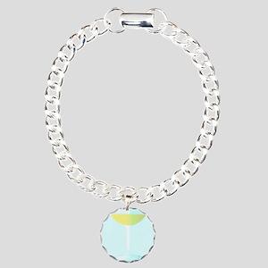 A Glass of Bubbly Backgr Charm Bracelet, One Charm
