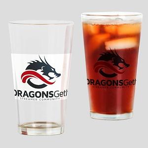 DragonsgetitBlackLogo Drinking Glass