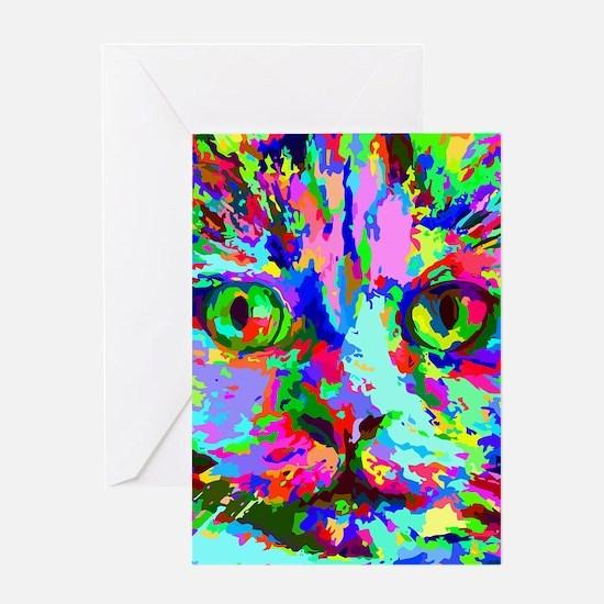 Pop Art Kitten Greeting Cards
