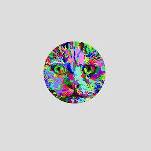 Pop Art Kitten Mini Button