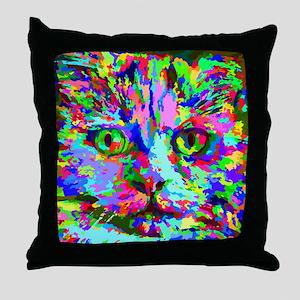 Pop Art Kitten Throw Pillow