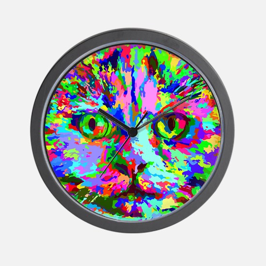 Pop Art Kitten Wall Clock
